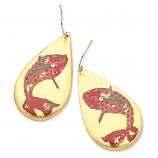 """Goldfish"" Teardrop Earrings by Evocateur"