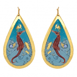 """Seahorse"" Earrings by Evocateur"