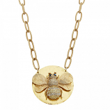"""Bumble Bee"" Necklace by Evocateur"