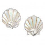 Sterling Scallop Earrings