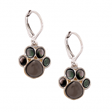 Sterling Cat Paw Earrings