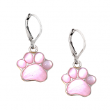 Sterling Puppy Paw Earrings