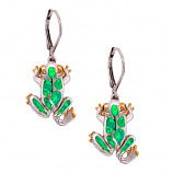 Sterling Frog Earrings