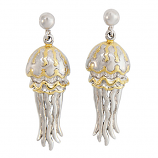 Sterling Jellyfish Earrings