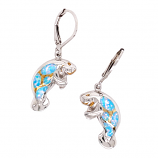 Sterling Manatee Earrings