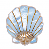 Sterling Scallop Shell Pendant