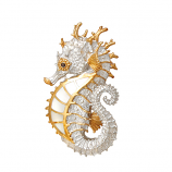 Sterling Seahorse Pendant By Kovel