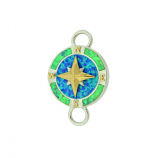 Sterling Compass Rose Bracelet Topper