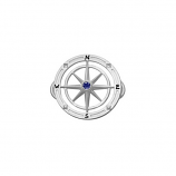 Sterling Compass Rose Bracelet Topper - Other Colors Available