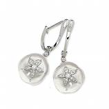 Diamond Sanddollar Earrings