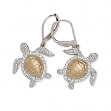 Diamond Turtle Earrings