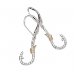 Diamond Fishhook Earrings