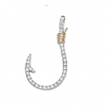 Diamond Fishhook Pendant