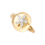 Diamond Sand Dollar Ring