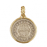 Spanish Silver 1 Reale Coin Pendant