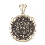 **SOLD** Spanish Half Reale Silver Coin Pendant