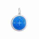 Sterling Compass Rose Pendant