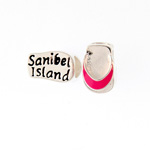 Sterling and Enamel Sanibel Flip Flop Bead