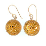 Sterling Vermeil Disk Earrings