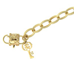 Charm Bracelet with Lock & Key
