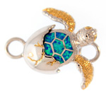 Sterling Hatching Turtle Bracelet Topper