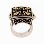 Ancient Byzantine Bronze Cross Ring