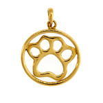 Circle of Love Paw Print Pendant