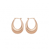 Oval Puffed Hoop Earrings