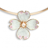 Sterling Dogwood Necklace