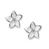 Sterling White Stephanotis Earrings