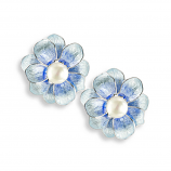 Sterling Blue Camellia Earrings