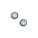 Sterling Blue Circle Earrings