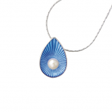 Sterling Blue Teardrop Necklace