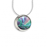 Sterling Aurora Circle Necklace
