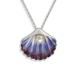 Sterling Scallop Necklace