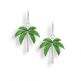 Sterling Palm Tree Earrings