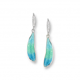Sterling Dragonfly Wings Earrings