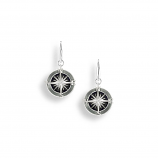 Sterling Compass Rose Earrings