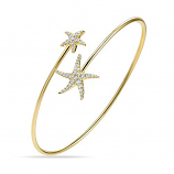 Diamond Starfish Bypass Bracelet
