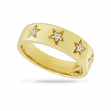 Diamond Star Band Ring