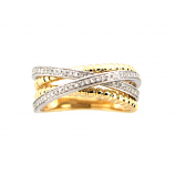 Criss Cross Diamond Ring