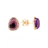 Diamond and Amethyst Earrings