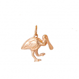 3-D Roseate Spoonbill Charm
