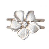 Diamond Periwinkle Ring