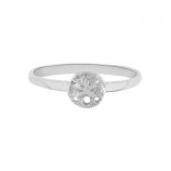 Sand Dollar Stacker Ring