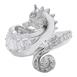 Sterling Seahorse Ring