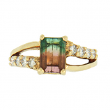 Bicolor Tourmaline Ring