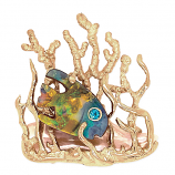 """**SOLD** """"Forest Guppy"""" Pendant"""