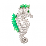 Sterling Opal Seahorse Pendant