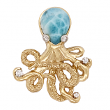 """20,000 Legs Under The Sea"" Octopus Pendant"